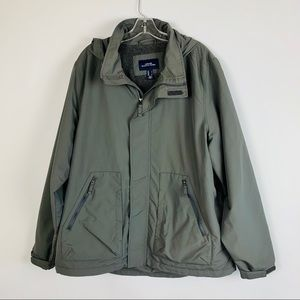 Lands End Outfitter Jacket XL/TG Gray Fleece Lined
